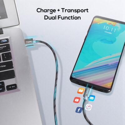 Dây cáp sạc TOPK AN09 cho điện thoại Android