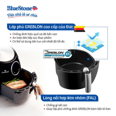 Nồi chiên không dầu Bluestone AFB-5873 5.5 lít
